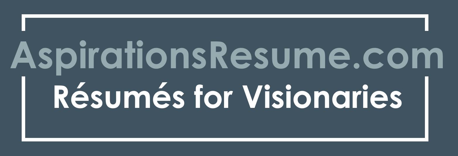 Aspirationsresume Resumes For Visionaries