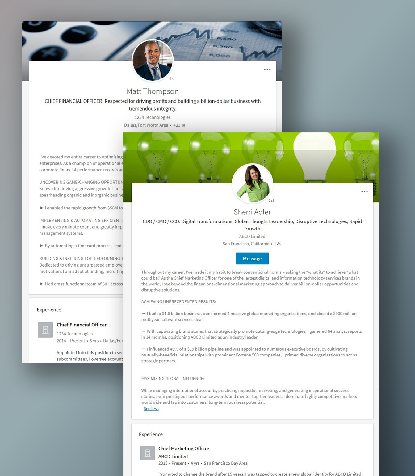 LinkedIn Profile Samples
